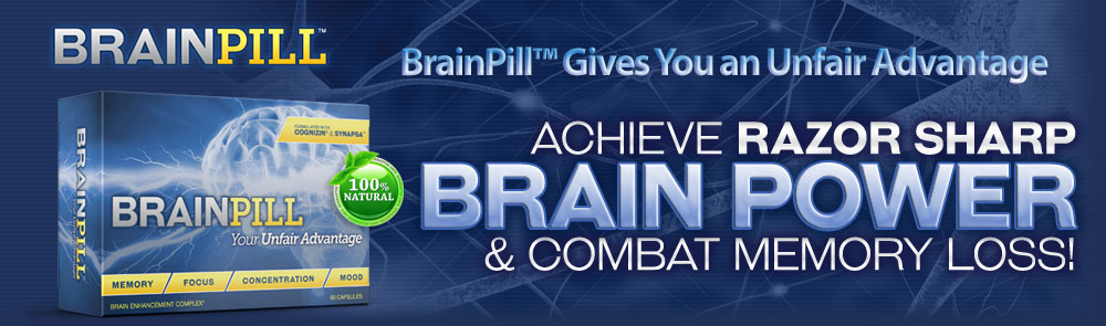 BrainPill Cognitive Boosters!